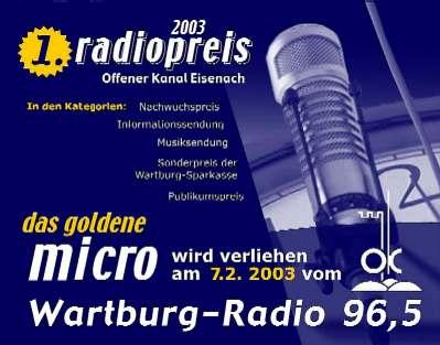 """Eisenach: """"Das Goldene Mikrofon"""" für OK-Hörfunkmacher"""