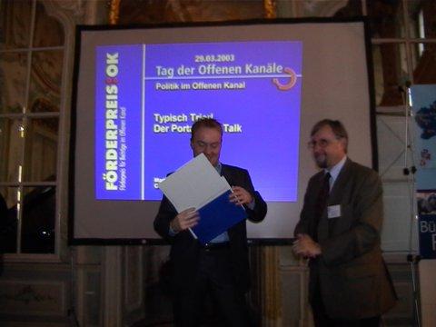 Neuwied, 29. März 2003: LPR-Förderpreise übergeben
