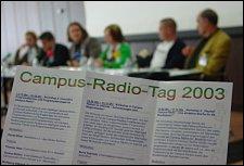 Auf dem Weg nach Europa: Campus-Radio-Tag 2003 in Köln