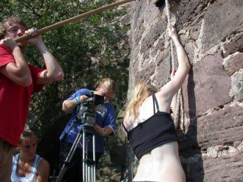Videocamp auf der Burg: Arbeit, Chaos, Stress und Spaß