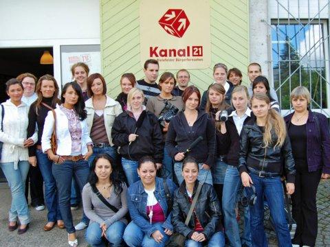Projekt mit angehenden Erzieherinnen im Kanal 21