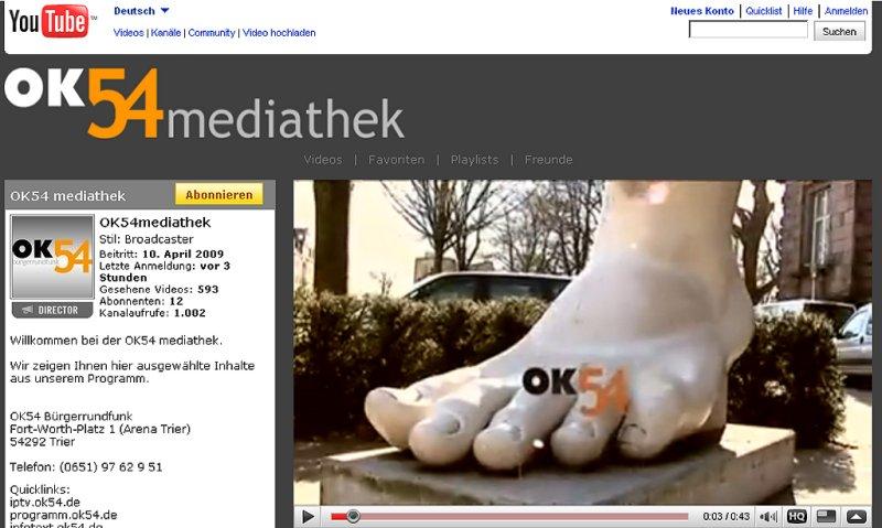 Ein neuer Verbreitungsweg: Die OK54-Mediathek ist online