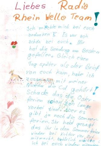 Brief einer jungen Radiomacherin aus Wiesbaden