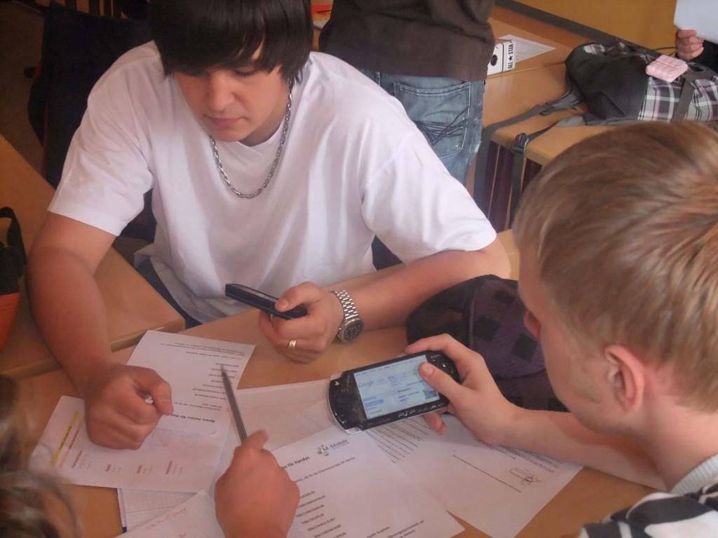 Handyprojekt an der Schillerschule Kaiserslautern
