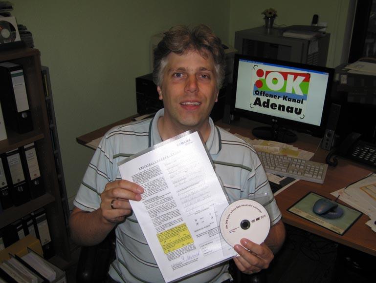 1500ster Beitrag beim OK-TV Adenau