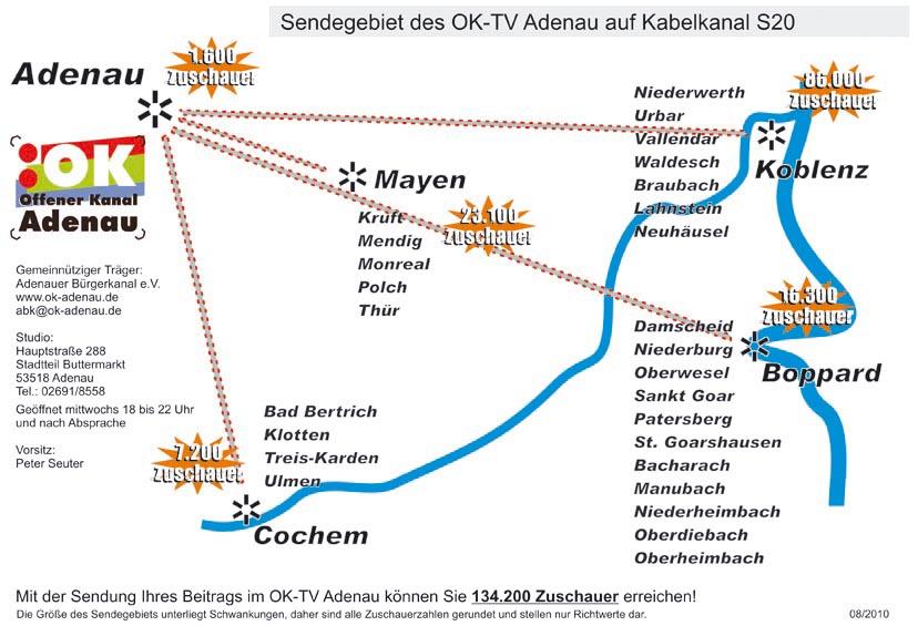"""OK-TV Adenau """"gewinnt"""" Zuschauer hinzu"""