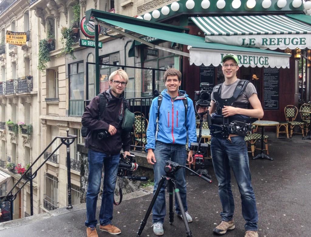 Drei Trierer Filmemacher in Paris