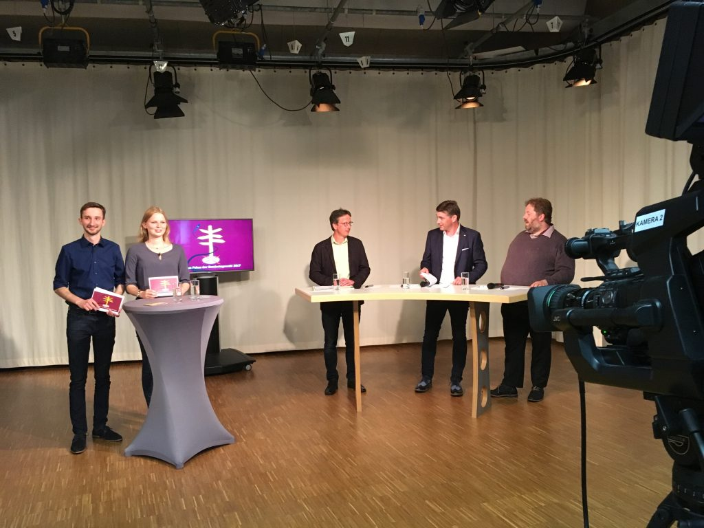 Jugend im Fokus der Bundestagswahl 2017  – Wahl-Sendung im Rostocker Offenen Kanal (rok-tv)